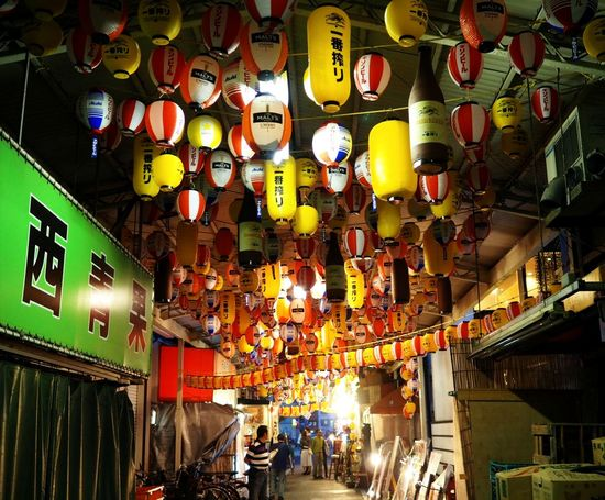 Multi Colored 提灯 ちょうちん Paper Lantern Paper Lanterns Lantern Alley Alleyway Back Alley Back Alley Art Gallery 天満 Hanging Abundance Illuminated Large Group Of Objects Lantern Day