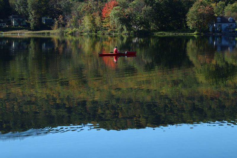 Reflection Water Lake Waterfront Transportation Beauty In Nature Mode Of Transportation