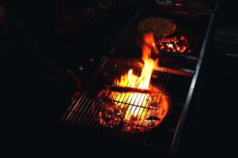 When in Dalat Fujifilm X-A3 Fujifilm Dalat On Fire Street Food Vietnamese Food Rice Paper Heat - Temperature Fire Burning Flame Glowing Autumn Mood