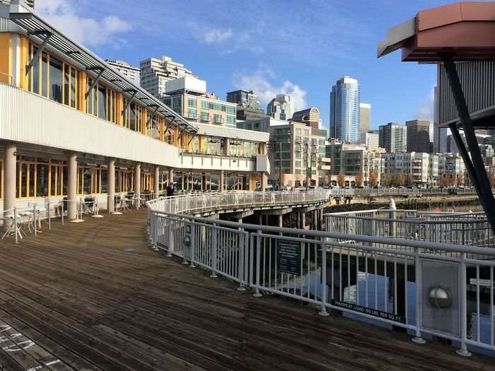 Seattle Waterfront Architecture Building Exterior Built Structure City Cityscape Cloud - Sky Day No People Outdoors Sky Skyscraper Travel Destinations