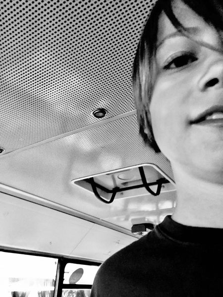 Boy in bus Black And White Half Face One Person Real People Portrait Headshot Leisure Activity Lifestyles Young Adult Childhood Front View Indoors  Child Looking At Camera Close-up Human Body Part Human Face The Portraitist - 2018 EyeEm Awards The Portraitist - 2018 EyeEm Awards