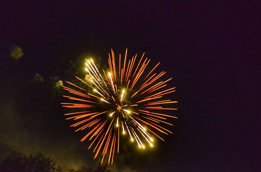 Fireworks Firework Illuminated Night Celebration Firework Display Event Exploding Arts Culture And Entertainment Motion Long Exposure Glowing Low Angle View Sky Firework - Man Made Object No People Blurred Motion Light Nature Sparks Copy Space