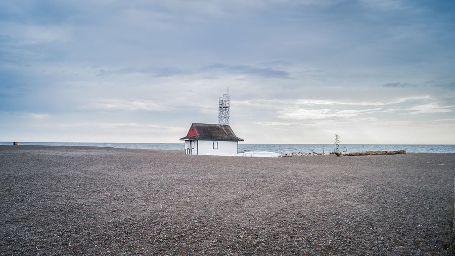 Leuty Lifeguard station in the Toronto Beaches Leuty Lifeguard Station Toronto Architecture Beach Beauty In Nature Building Exterior Built Structure Cloud - Sky Day Horizon Over Water Lighthouse Nature No People Outdoors Sand Scenics Sea Sky Tranquil Scene Tranquility Water