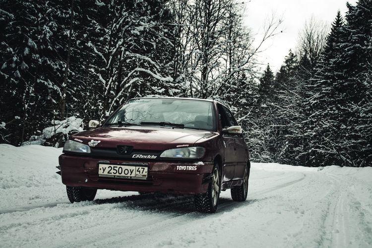 Snow Car Road