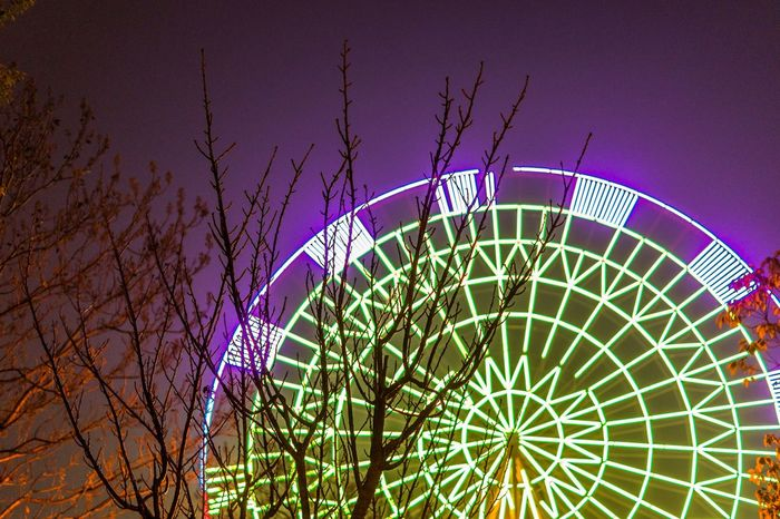 Night Photography Night Lights Ferris Wheel Street Photography