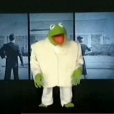 Kermit as David Byrne Muppets TalkingHeads