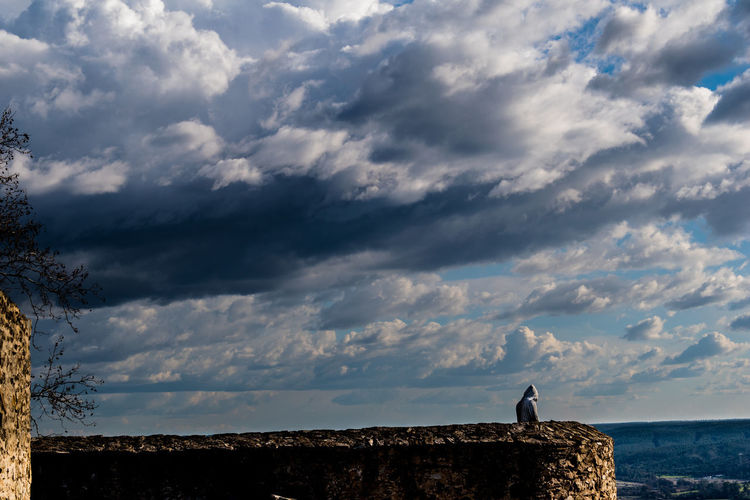 Castle of Abrantes Portugal Beauty In Nature Cloud - Sky Day Full Length Horizon Over Water Landscape Leisure Activity Men Nature One Person Outdoors People Real People Scenics Sea Silhouette Sky Standing Tranquil Scene Tranquility Water Stories From The City Go Higher