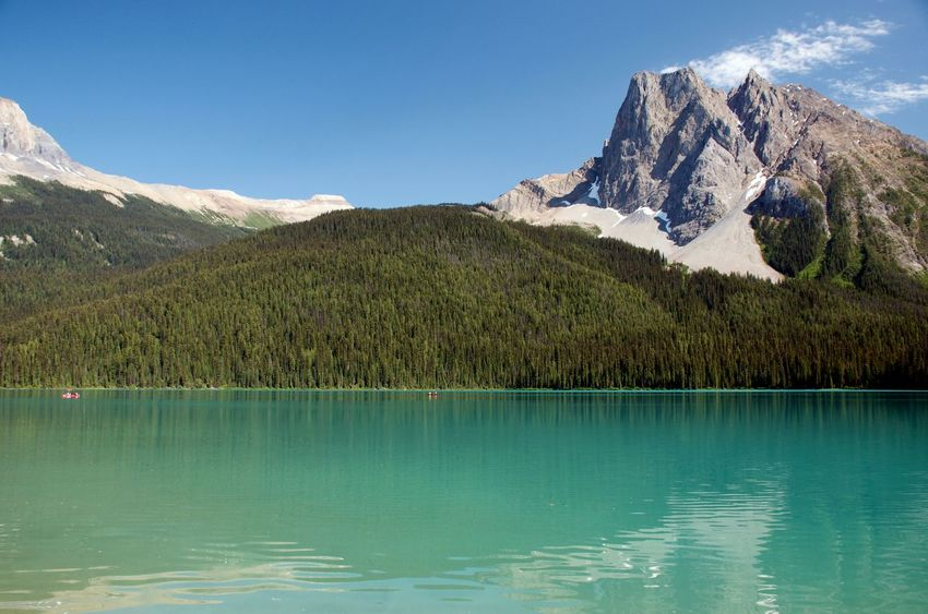 Amazing View Banff National Park  Breathtaking View Hiking Lake At The Foot Of A Mountain Travel Blue Green Water Clouds And Sky Destination Glacial Lake Landscape Mountain Mountain Range No People