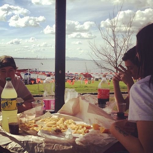 Recovery Sunday at eastern beach Fishandchips Yes Goodview Loljks thisisgeelong fkgeelong imhungry yay dprox