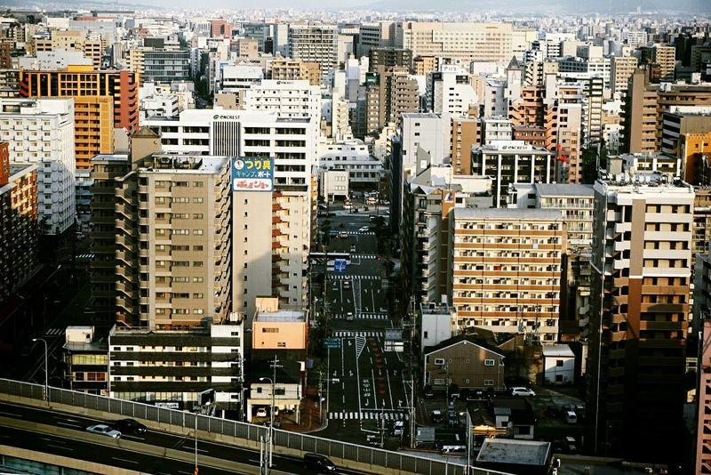 Fukuoka,Japan Fukuoka-shi Fukuoka Fukuoka City  Fukuoka-japan Sunset Town Town View Townview Town Street