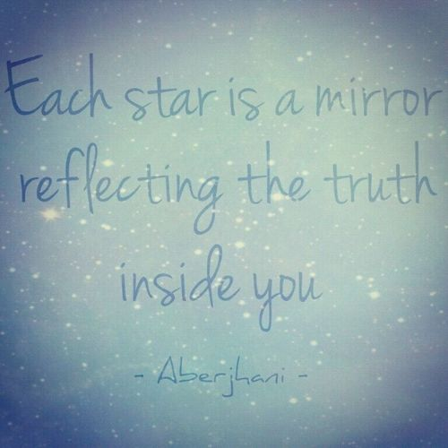Each star is a mirror reflecting the truth inside you. Star Mirror Aberjhani