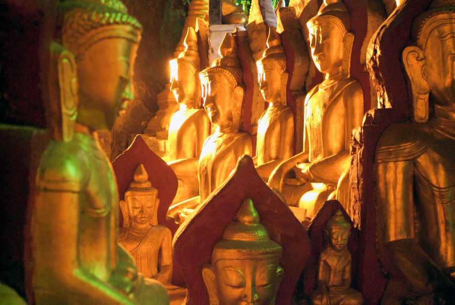 Buddha Golden Art And Craft Burma Day Human Representation Indoors  Male Likeness Myanmar No People Place Of Worship Religion Sculpture Spirituality Statue Staue