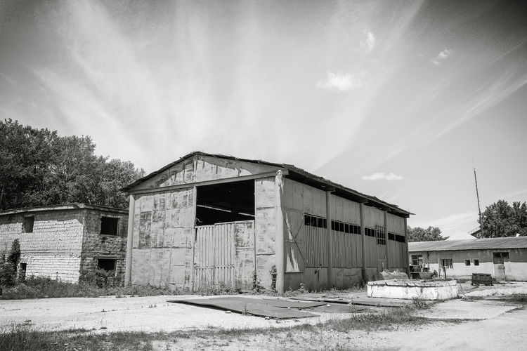 Abandoned Architecture Blue Built Structure Cloud Cloud - Sky Conveyor Belt Deterioration Exterior Factory Industrial Mine Non-urban Scene Old Outdoors Plant Run-down Sky Sunny Tranquil Scene Tranquility