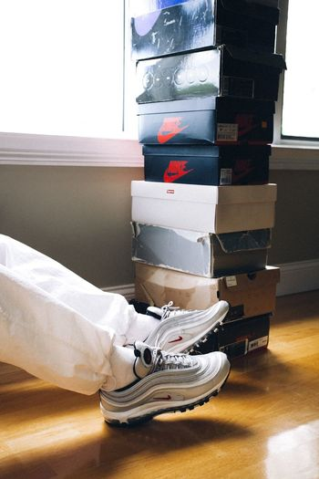 Out Of The Box Indoors  Stack Cardboard Box Close-up Sneakers Sneakerhead  Nike