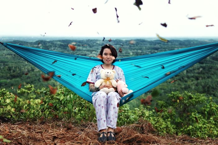 Looking At Camera Innocence Outdoors One Person Nature Cultures Child Day Young Adult Flying EyeEmNewHere Potrait Of Woman INDONESIA