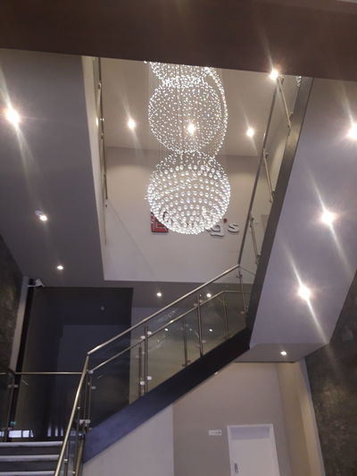 Retaurant Beutiful Place  Beutiful  Illuminated Light Bulb Arts Culture And Entertainment Shiny Representing Staircase Lighting Equipment Electric Light Electricity  Steps Chandelier