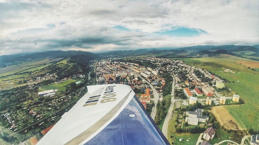Small town beyond Aerial View Cloud - Sky Sky City Day No People Nature Cityscape Airplane Aviationphotography Flying Fly Low Altitude Pilot Pilotlife Pilotview Gopro Goprooftheday GoPro Hero3+ GoPrography Snapseed Wing Slovakia Vipersd4