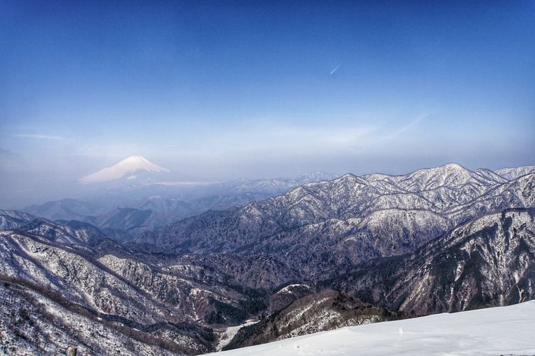 Scenic View Of Mountains In Japan