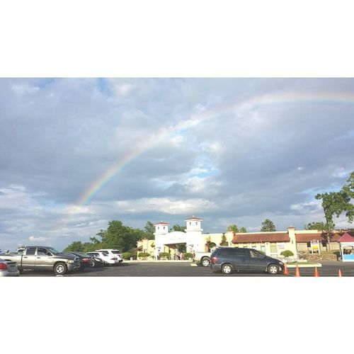 Epic rainbow over Magicsprings Crystalfalls ! (what does it mean???) Rainbow SundayFunday pretty