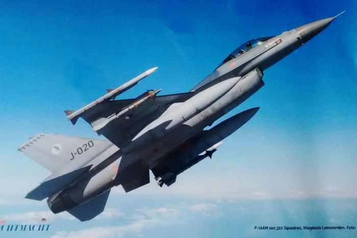 Sky Day Outdoors Plane F16fightingfalcon F16 Placemat
