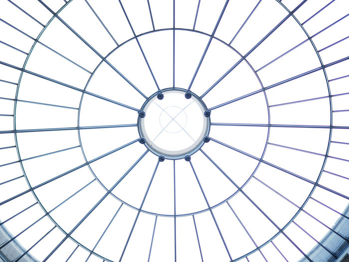 Bright glass dome roof inside a museum Architectural Design Architecture Ceiling Dome Glass Domes Glass Pattern Modern Pattern