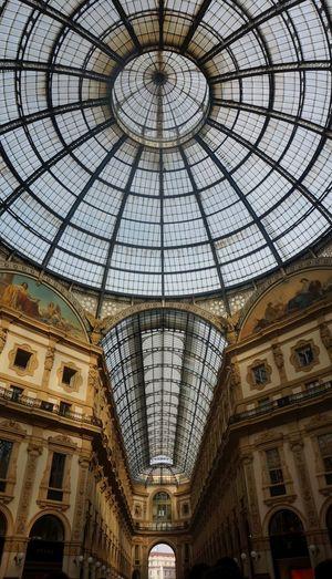 Low Angle View Of Skylight In Galleria Vittorio Emanuele Ii