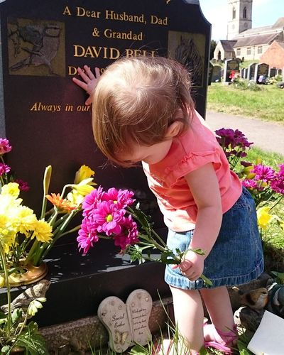 I miss you every day! Dad I will love you always! Granddaughter #Dad Cancer Family Missing You Happy Birthday! Flower Child Childhood Standing Casual Clothing Close-up