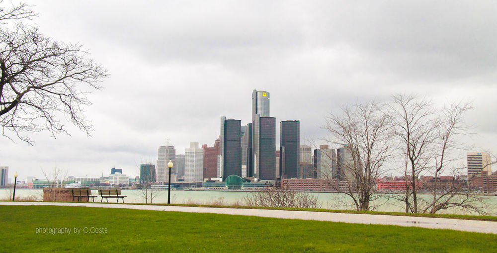 The home of Motown, Cadillac and Joe Louis Architecture Building Exterior City Cityscape Cloudy Detroit Overcast Urban Skyline