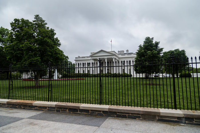 The White House... America Architecture Building Exterior Built Structure City Cloud - Sky Day Grass Greydays Iconic Iconic Buildings No People Outdoors Sky The White House Travel Travel Destinations Travel Photography Tree USA USAtrip Washington Washington DC Washington, D. C. White House
