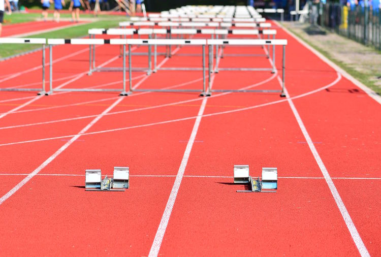 Close-up of sports track