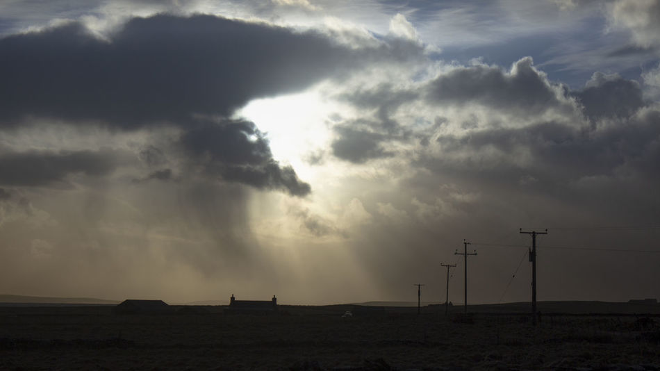Papay Silhouette Dramatic Sky Orkney Orkney Islands Papa Westray Scotland Beauty In Nature Cloud - Sky Clouds And Sky Electricity Pole Electricity Pylon Environment Islandlife Landscape Nature Outdoors Power In Nature Scenics - Nature Scotland Wild Landscape Silhouette Sky Sun Sunbeam Sunlight Tranquil Scene Tranquility EyeEmNewHere HUAWEI Photo Award: After Dark