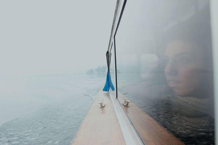 Woman in yacht