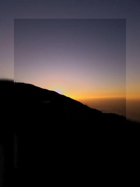 Sunset Astronomy Silhouette Sky Close-up Countryside Rocky Mountains Tranquility Calm Non-urban Scene Mountain Range Scenics Dramatic Sky Atmospheric Mood Arid Landscape Foggy Planetary Moon Remote Tranquil Scene Idyllic Full Moon Half Moon Moon