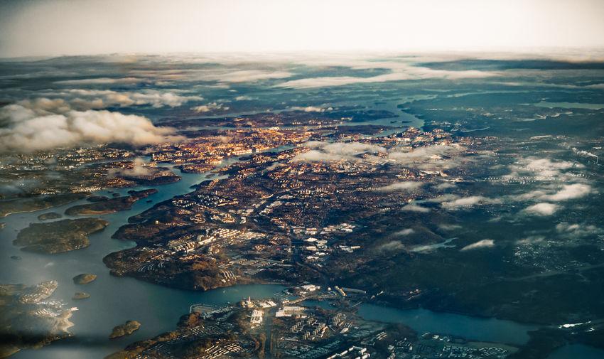 Stockholm sprawling around lake mälaren