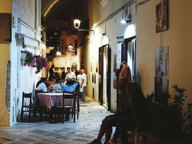 """night life in Locorotondo"" Chair Adult Sitting Adults Only Puglia, Italy Puglia South Italy Italy🇮🇹 Night Locorotondo"