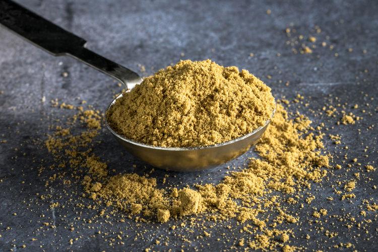 A Teaspoon of Ground Cumin Isolated Close Up Cumin Food Ground Ingredient Macro No People Nobody Seasoning Spice Teaspoon