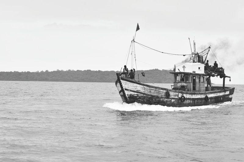 Sea Nautical Vessel Fishing Boat Fishing Black & White Blackandwhite Photography Fishing Life Boat Finding New Frontiers Goa Goa India Goa ❤❤ Goatrip Goadiaries Goa
