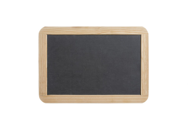 Blank slate board with wooden frame, isolated on white background Slate Wood Wooden Chalk Chalkboard Sign Board Blackboard  Black Isolated White Background Education Blank Copy Space Empty Small Frame Border Vintage Retro School Note Message Write Toy