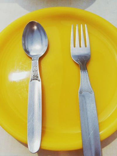 Fork Table No People Yellow Indoors  Close-up Food Day EyeEmNewHere Great Evening EyeEm Paint The Town Yellow