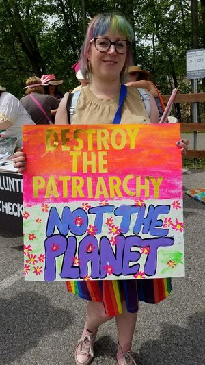 Climate March 2017 One Person One Planet Fight For Our Planet Climate Change(global Warming)