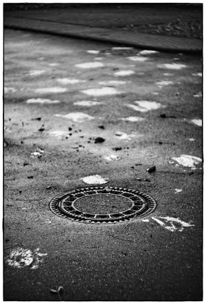 gully lid Asphalt Blackandwhite Close-up Contrast Lawoe No People Outdoors Street