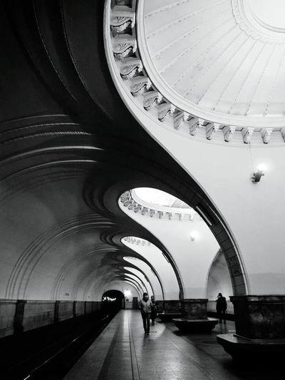 The Architect - 2017 EyeEm Awards Arch Indoors  Architecture Tunnel Metro Metro Station Underground Moscow