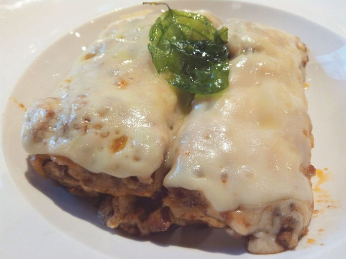 Beef lasagna, yummy....: Thank u :-D Lasagna Food JJ Royals Bistro Senayancity Jakarta INDONESIA