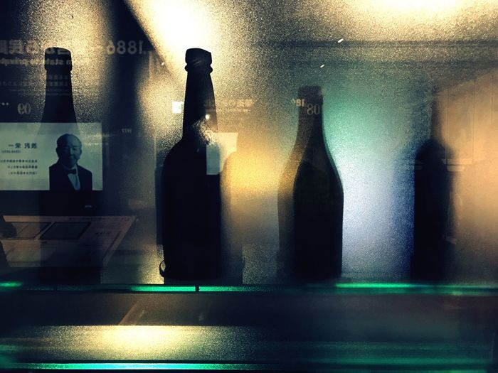 Bottle Illuminated Indoors  Drink Alcohol Close-up Day Beer Beer Time Beer Museum Sapporo,Hokkaido,Japan 2016/12