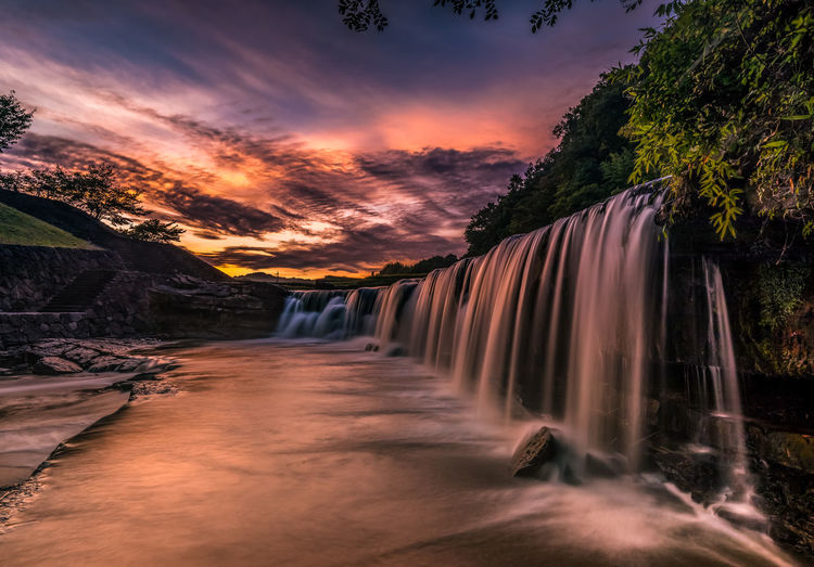 Morning Light Japan Beauty In Nature Day Landscape Long Exposure Motion Nature Sky Tree Water Waterfall Adventures In The City
