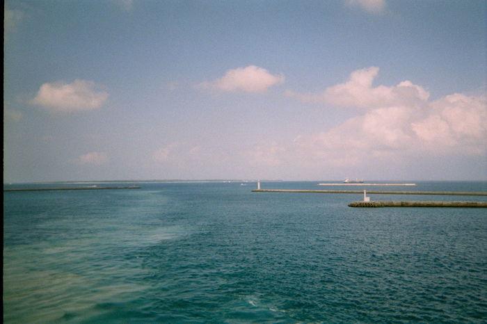 Blue Blue Boat Ishigaki Island Island Japan Nature Sea Sky