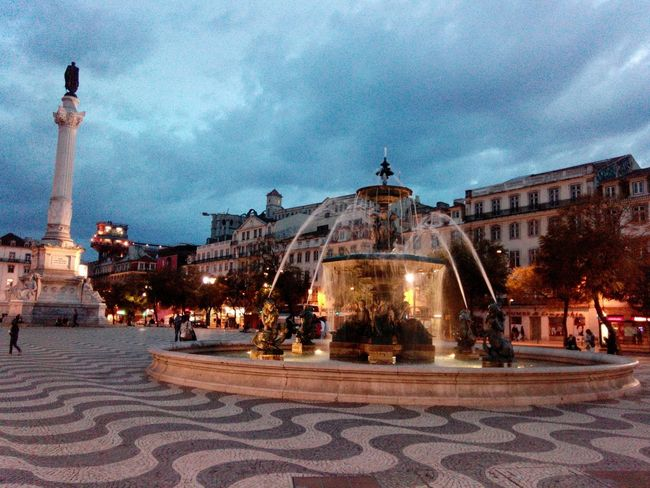 Lisboa Lisbon Lisbon Center City Center Praça Do Rossio Rossio Lissabon Lisbonne Lisbona Fountain