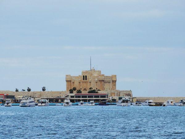 Qaitbay Citadel Architecture Building Exterior Built Structure Travel Destinations History No People Sky City Outdoors Politics Day Cultures Alexandria Egypt