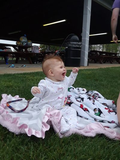 loving life Smile Excitement Happiness Happy Baby Sitting Outside Sitting Sweet Awesome! Visual Creativity Childhood Child Tablecloth Chair Front Or Back Yard Baby Grass One Baby Girl Only Babies Only Blooming The Great Outdoors - 2018 EyeEm Awards