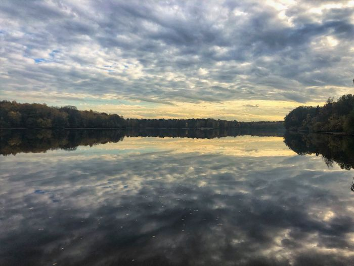 Mirror Germany NRW Duisburg Cloud - Sky Water Sky Reflection Tranquility Tree My Best Photo Beauty In Nature Tranquil Scene Lake Sunset No People Nature Plant Standing Water Idyllic Scenics - Nature Waterfront Outdoors Stay Out The Great Outdoors - 2019 EyeEm Awards
